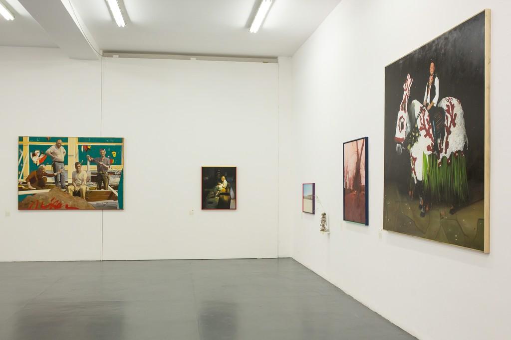 installation view at Giovanni Bonelli Gallery