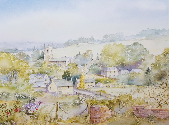Ken Burton, 'Naunton, Gloucestershire, UK', 1988, Drawing, Collage or other Work on Paper, Watercolor, Graves International Art