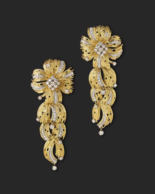 , 'Diamond Pendant Earrings,' 2018, Grima