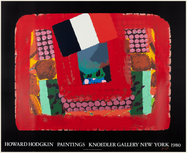 Howard Hodgkin, 'In a French Restaurant SIGNED', 1980, Posters, 29 color screen print on Rives BFK paper, Petersburg Press