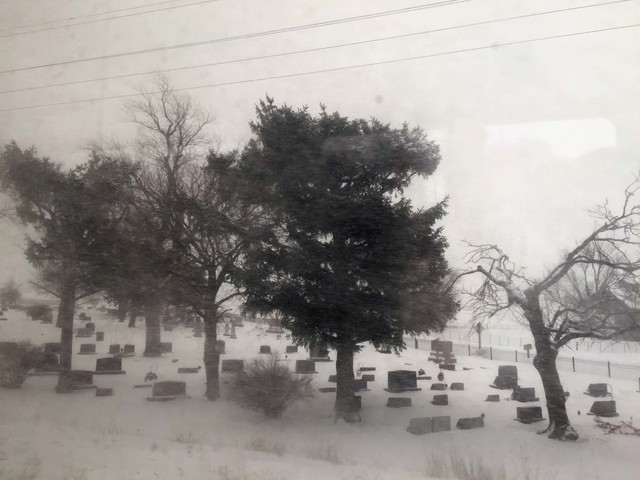 , 'Train View (winter cemetary),' 2014-2016, devening projects