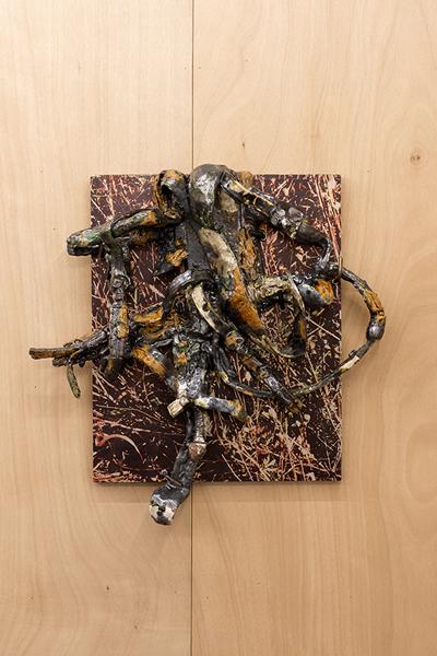 Veronica Brovall, 'Strike down', 2015, Sculpture, Glazed ceramic, powder coated steel, Hopstreet