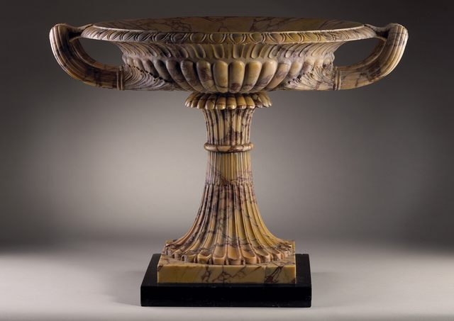, 'An Exceptional Giallo Antico Marble Tazza,  set on a Belgian black marble base,' , Tomasso Brothers