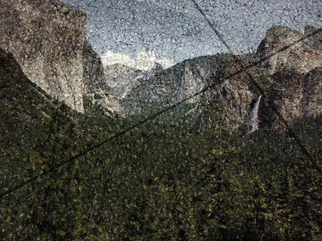, 'Tent-Camera Image on Ground: View of The Yosemite Valley from Tunnel View, Yosemite National Park, California,' 2012, Huxley-Parlour