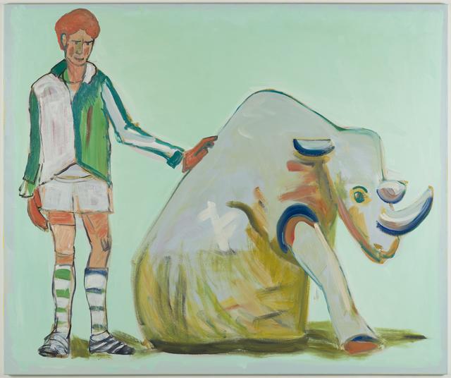 Carla Busuttil, 'Paradise No. 1 (Rhino)', 2018, Painting, Oil on Canvas, Goodman Gallery