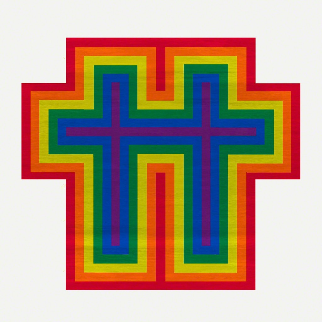 Jonathan Horowitz, Rainbow Cross for Two, 2018