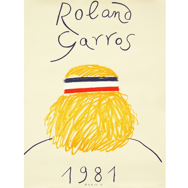 Eduardo Arroyo, '1981 Roland Garros Poster', 1981, Ephemera or Merchandise, Lithograph, Fears and Kahn