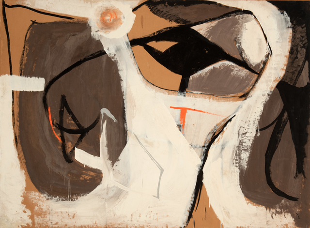 Yvonne Thomas, 'Half Moon', 1949, Painting, Casein on paper on board, Hollis Taggart