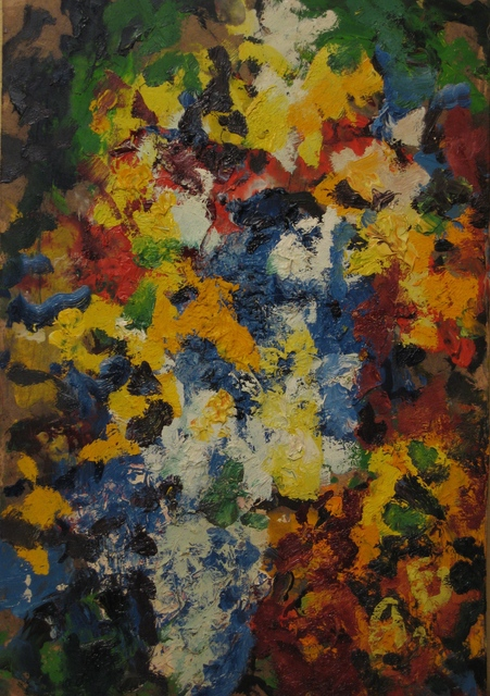 Aron Froimovich Bukh, 'Flowers', 2000, Painting, Oil on hardboard, Surikov Foundation