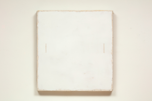 , 'White with Two Lines Removed,' 2018, Marc Straus