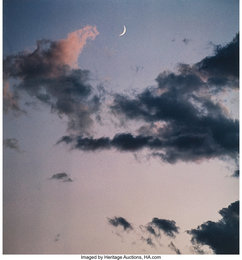 New Mexico, Crescent Moon; New Mexico, Full Moon with Mountains; New Mexico (three cloud studies)