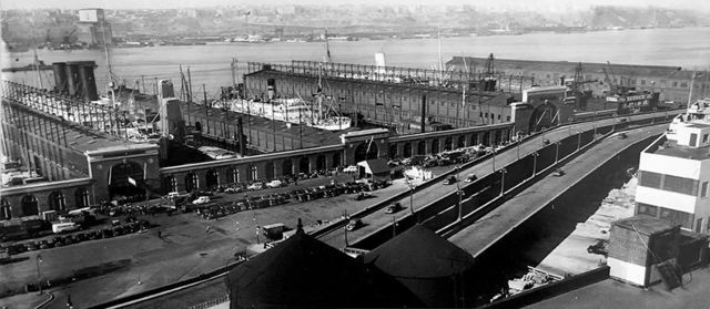 """, 'West Side Express Highway and Piers 95-98 (from the series """"Changing New York""""),' 1937, Bookstein Projects"""