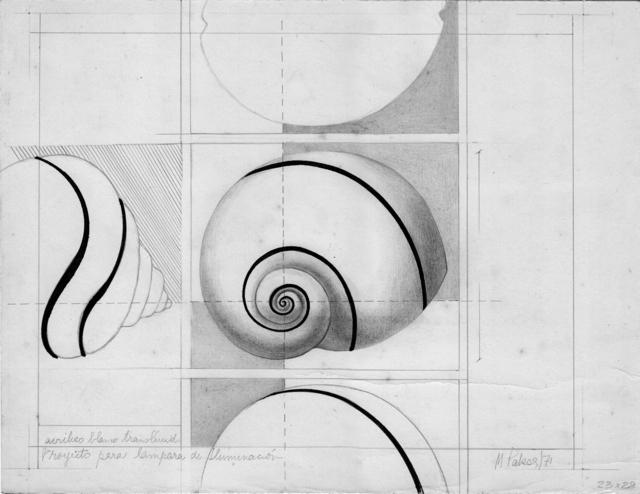 , 'Caracol, proyectos para lámpara de iluminación ,' 1971, Herlitzka + Faria
