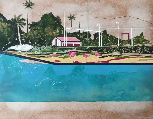 , 'Flamingo Point,' 2017, Arusha Gallery