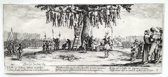, 'Les Grandes Miseres de la Guerre: the set of 18,' 1633, Harris Schrank Fine Prints