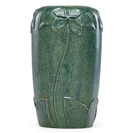 Vase with stylized flowers, Newburyport, MA