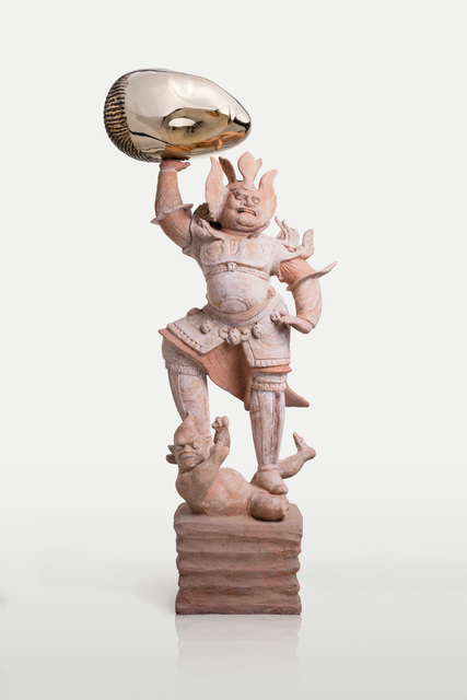 , 'Eternity-Painted Terracotta Statue of Heavenly Guardian, Sleeping Muse,' 2016, James Cohan