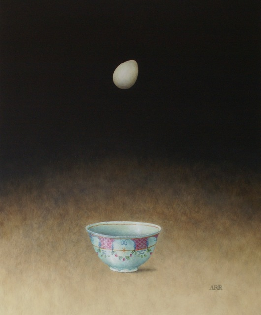 , 'Turquoise Bowl with Falling Egg,' 2019, Quantum Contemporary Art