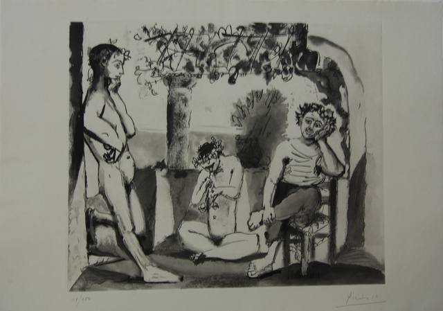 Pablo Picasso, 'Bacchanale (Musical Composition) Black and White', 1960, Baterbys