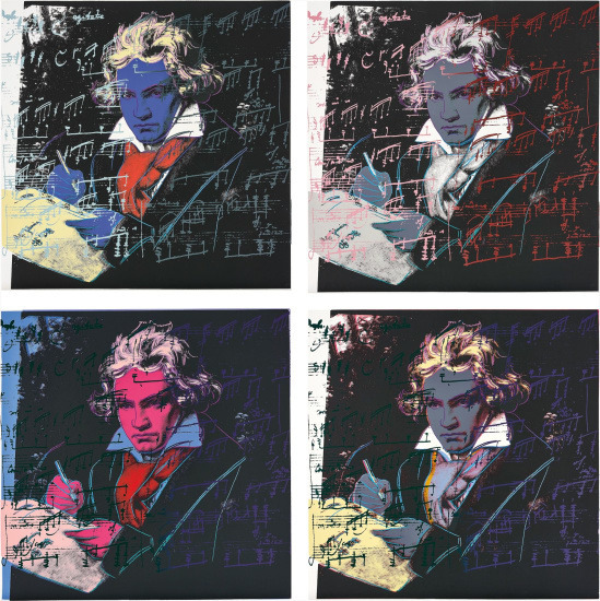 Andy Warhol, 'Beethoven Portfolio (II.390 - II.393', 1987, Print, Screenprint on Lenox Museum Board, Coskun Fine Art