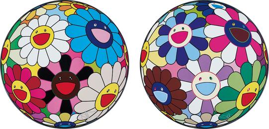 Takashi Murakami, 'Flower Ball (Algae Ball); and Flower Dumpling,' 2013, Phillips: Evening and Day Editions