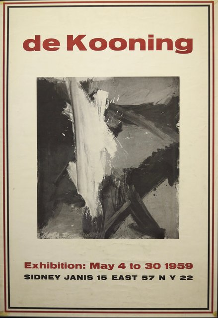 Willem de Kooning, '1959 Exhibition Poster', 1959, Terenchin