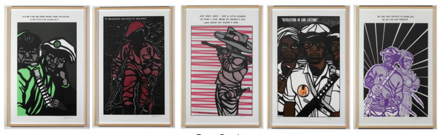 Emory Douglas, 'Revolution in Our Lifetime (Full Series)', 1969-1979/2009, Print, Screen print on arches paper, OSMOS