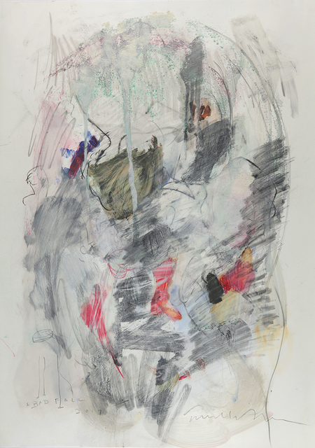 Terrell James, 'Bad Fall', 2017, Drawing, Collage or other Work on Paper, Graphite and ink on stone paper, Jason McCoy Gallery