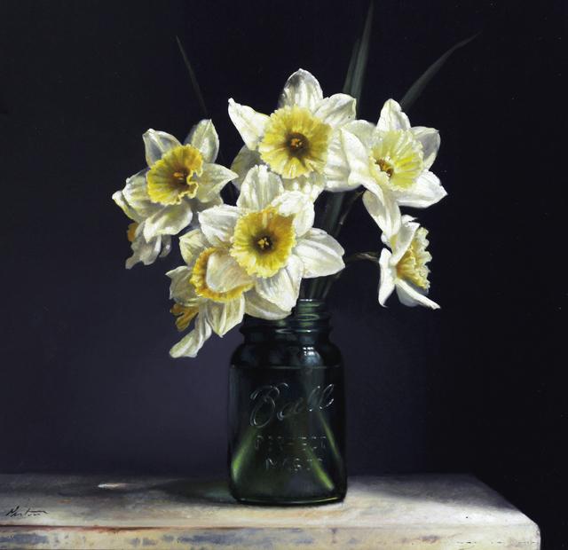 , 'White and Yellow Daffodils,' 2019, William Baczek Fine Arts