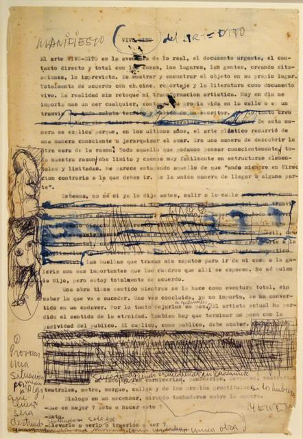 , 'Manifiesto del Arte Dito,' 1963, Del Infinito
