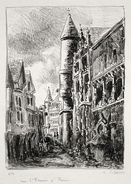 Camille Pissarro, 'Rue Saint-Romain, à Rouen, 2nd Plate', 1896, Harris Schrank Fine Prints