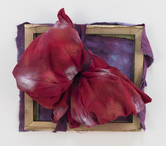 Jamie Powell, 'Ruby Red', 2018, Sculpture, Acrylic and spray paint on dyed torn canvas, Freight + Volume