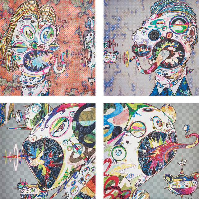 Takashi Murakami, 'Homage to Francis Bacon (Study for Head of Isabel Rawsthorne and George Dyer); Homage to Francis Bacon (Study for Head of Isabel Rawsthorne and George Dyer); Homage to Francis Bacon (Study of Isabel Rawsthorne); and Homage to Francis Bacon (Study of George Dyer)', 2016-2017, Phillips