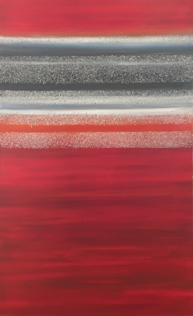 Arica Hilton, 'Multiverse Red', 2016, Mixed Media, Oil on canvas with recycled plastic, Hilton Asmus