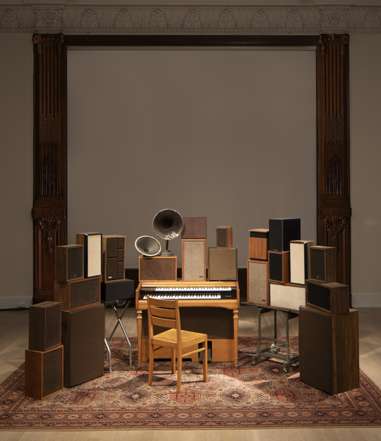 Janet Cardiff & George Bures Miller, 'The Poetry Machine', 2017, Installation, Interactive audio/mixed media installation including organ, speakers, carpet, computer and electronics, Luhring Augustine