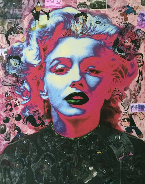 , 'HOT PINK MARILYN,' 2014, NYC Art Collective and Gallery