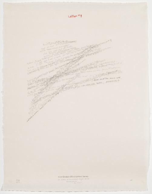 , 'Letter #7,' 2004, Travesia Cuatro