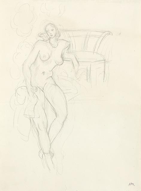 , 'Nu, fauteuil au fond,' ca. 1928, Opera Gallery