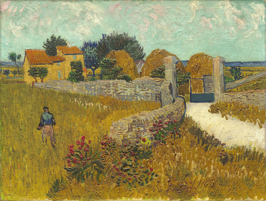 Image result for farmhouse in provence van gogh