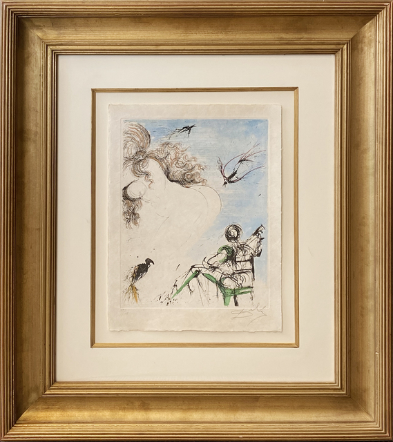 Salvador Dalí, 'Woman with Parrot', 1967, Print, Original etching, Galerie d'Orsay