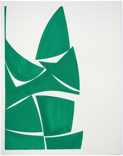 Joanne Freeman, 'Viridian 30A', 2021, Drawing, Collage or other Work on Paper, Gouache on handmade paper, Kathryn Markel Fine Arts