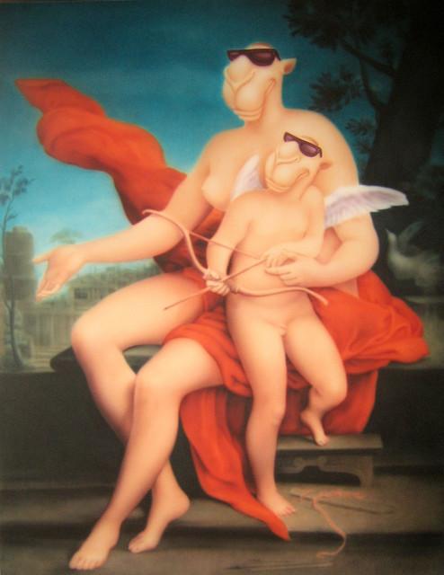 , 'Venus and Cupid (维纳斯和丘比特),' 2008, ShanghART