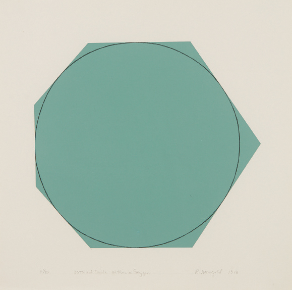 Robert Mangold, 'Distorted Circle Within a Polygon (Green)', 1973, Phillips