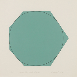Robert Mangold, 'Distorted Circle Within a Polygon (Green),' 1973, Phillips: Evening and Day Editions (October 2016)
