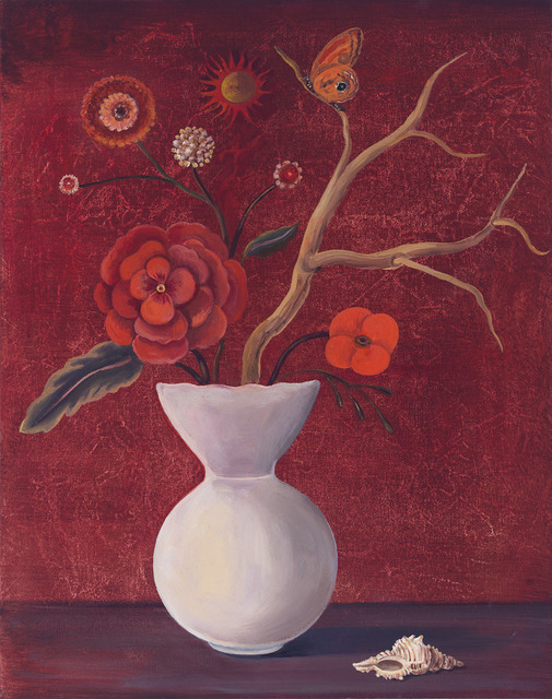 , 'Still Life with Red Sky and Geranium,' 2010, Clark Gallery