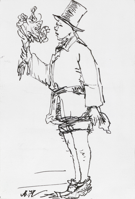 , 'Young Man with Flowers 1924-2014 No. 2 花少年 1924-2014 2号,' 2014, Ink Studio