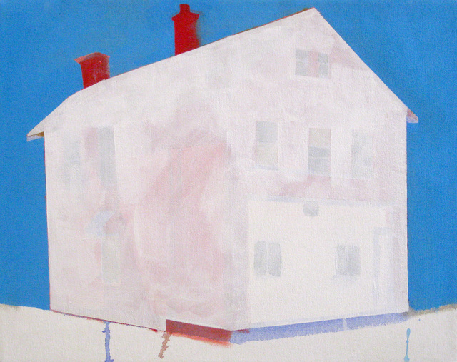 , 'Red House, Blue Sky,' 2014, Susan Eley Fine Art