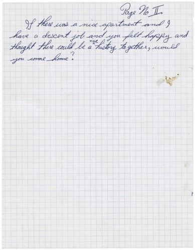 , 'Love Letter: Would You Come Home?,' 2004, Weinstein Gallery - Minneapolis
