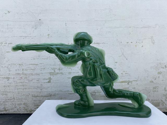Yoram Wolberger, 'Toy Soldier #5 (Kneeling Position)', 2020, Sculpture, 3D digital scanning, CNC digital sculpting, Reinforced Fiberglass Composite, Urethane, Mark Moore Fine Art