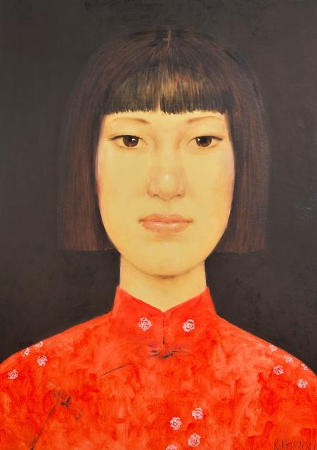 Rukying Khymarn, 'Schoolgirl ', 2016, Painting, Oil on canvas, Asiart Gallery